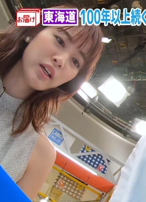 新井恵理那 ノースリーブ、白くて綺麗な肌キャプ・エロ画像2
