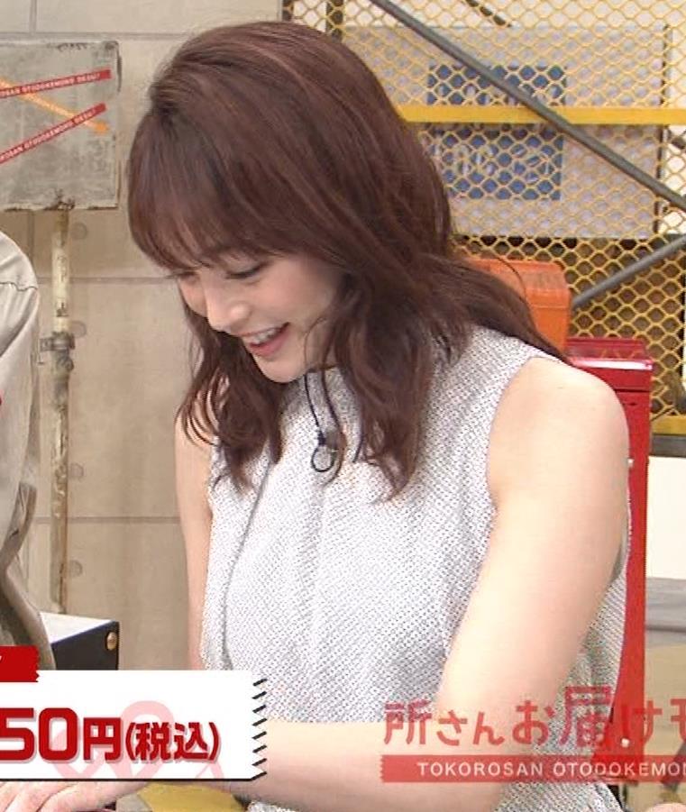 新井恵理那 ノースリーブ、白くて綺麗な肌キャプ・エロ画像12