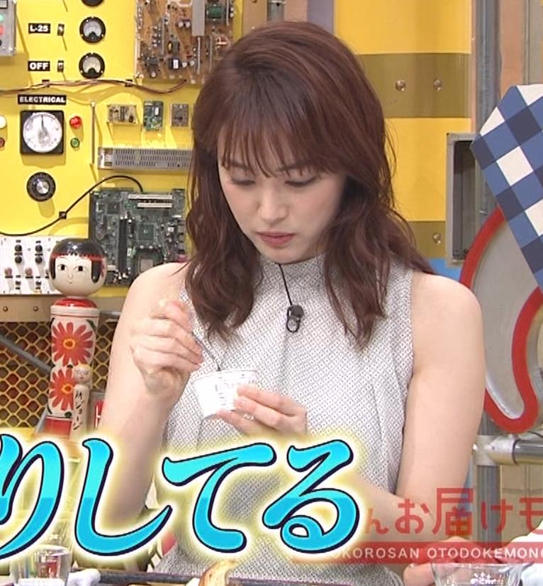新井恵理那 ノースリーブ、白くて綺麗な肌キャプ・エロ画像13