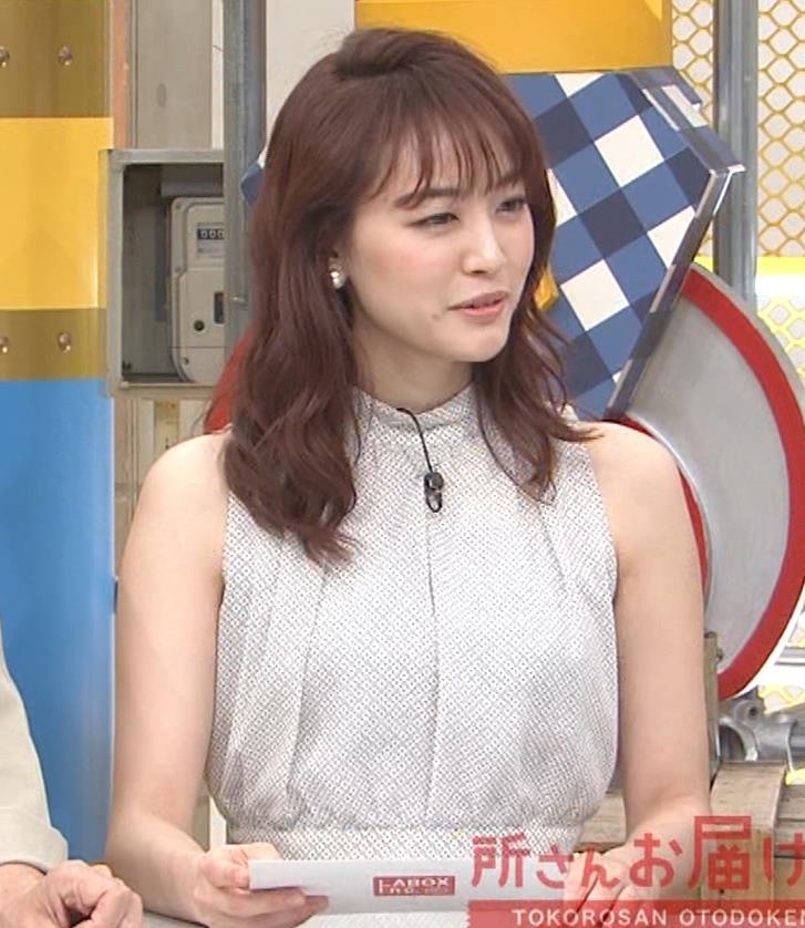 新井恵理那 ノースリーブ、白くて綺麗な肌キャプ・エロ画像3