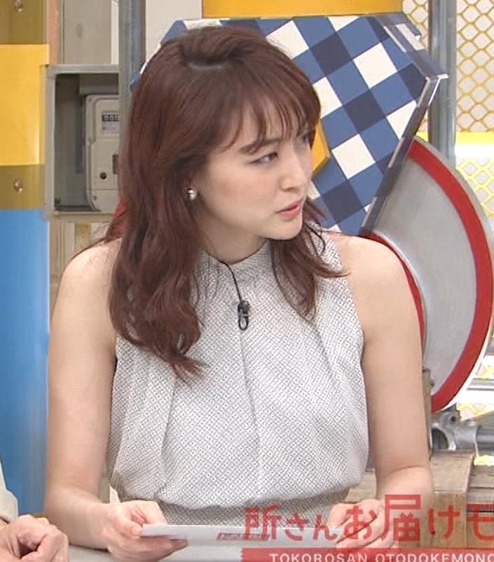 新井恵理那 ノースリーブ、白くて綺麗な肌キャプ・エロ画像5