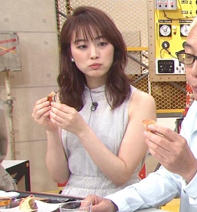 新井恵理那 ノースリーブ、白くて綺麗な肌キャプ・エロ画像7