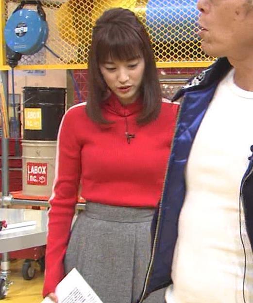 新井恵理那 くっきりニットおっぱいキャプ・エロ画像3