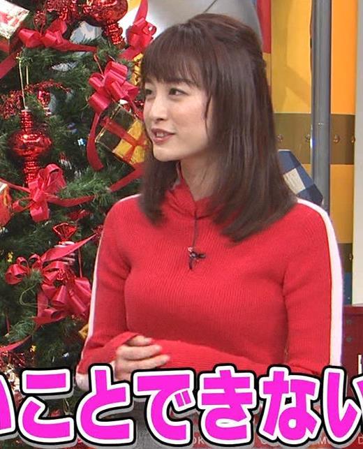 新井恵理那 くっきりニットおっぱいキャプ・エロ画像8