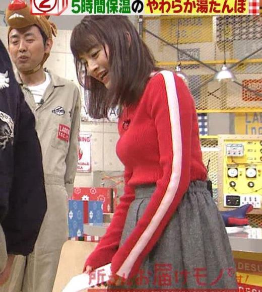新井恵理那 くっきりニットおっぱいキャプ画像(エロ・アイコラ画像)