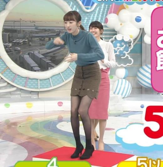 團遥香 ミニスカ黒ストッキング 脚細すぎキャプ画像(エロ・アイコラ画像)