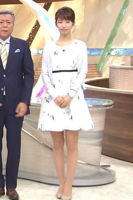 海老原優香アナ 女子アナにしては短いミニスカートキャプ・エロ画像2