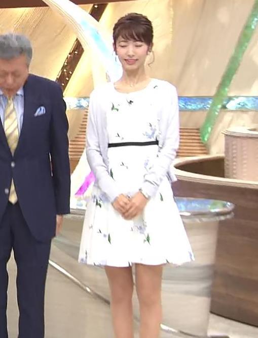 海老原優香アナ 女子アナにしては短いミニスカートキャプ・エロ画像3