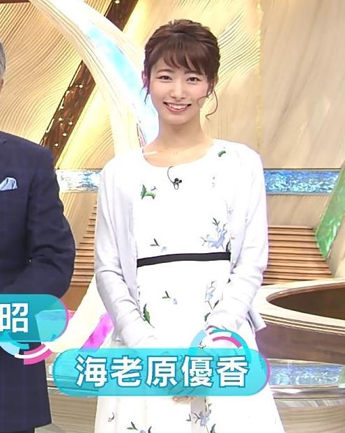 海老原優香アナ 女子アナにしては短いミニスカートキャプ・エロ画像4