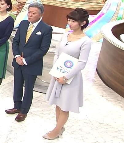 海老原優香アナ 胸のラインがでたニットキャプ・エロ画像2