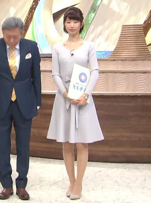 海老原優香アナ 胸のラインがでたニットキャプ・エロ画像3