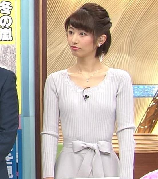 海老原優香アナ 胸のラインがでたニットキャプ・エロ画像7