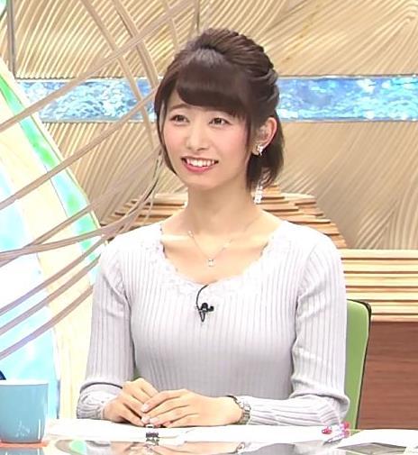 海老原優香アナ 胸のラインがでたニットキャプ・エロ画像8