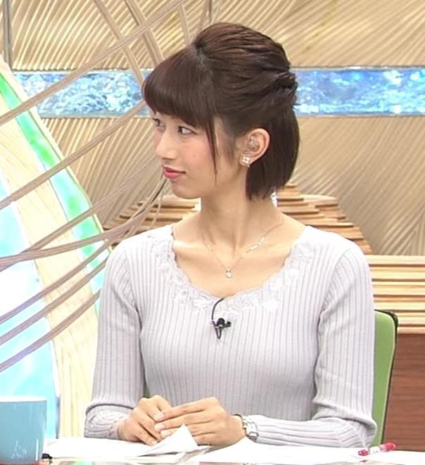 海老原優香アナ 胸のラインがでたニットキャプ・エロ画像10