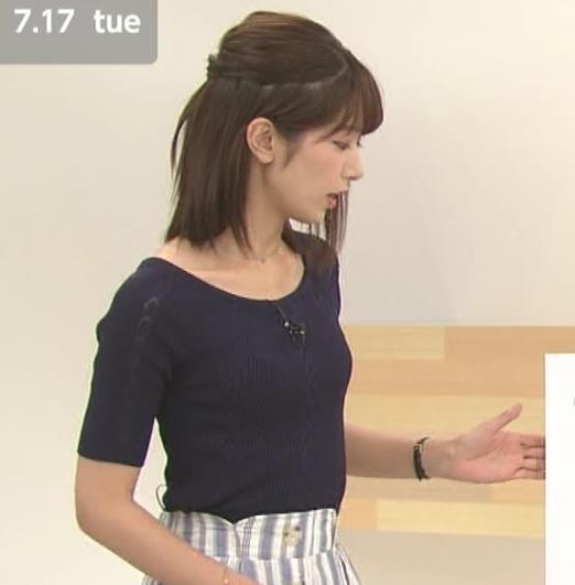 海老原優香アナ ニットちっぱいキャプ・エロ画像