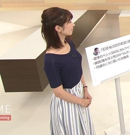 海老原優香アナ ニットちっぱいキャプ・エロ画像2