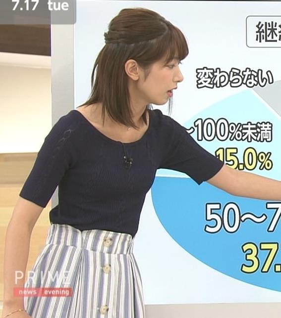 海老原優香アナ ニットちっぱいキャプ・エロ画像3