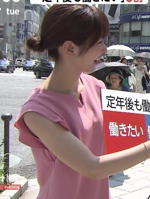 海老原優香アナ ニットちっぱいキャプ・エロ画像10