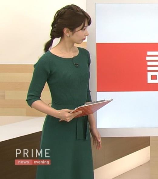 海老原優香アナ 身体のラインが出たぴったりニットキャプ・エロ画像4