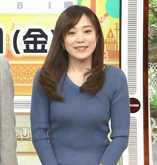 江藤愛アナ エロ過ぎニット横乳!キャプ・エロ画像