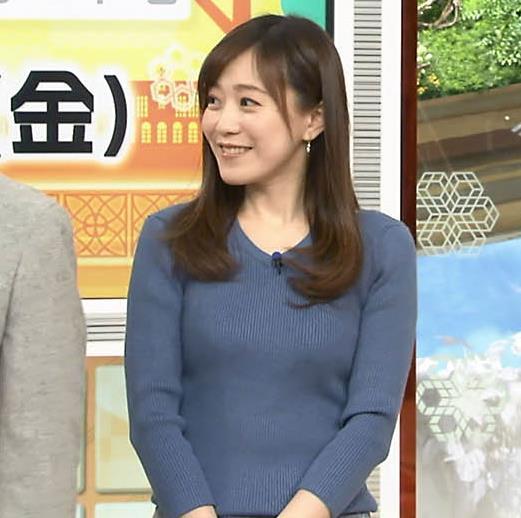 江藤愛アナ エロ過ぎニット横乳!キャプ・エロ画像3