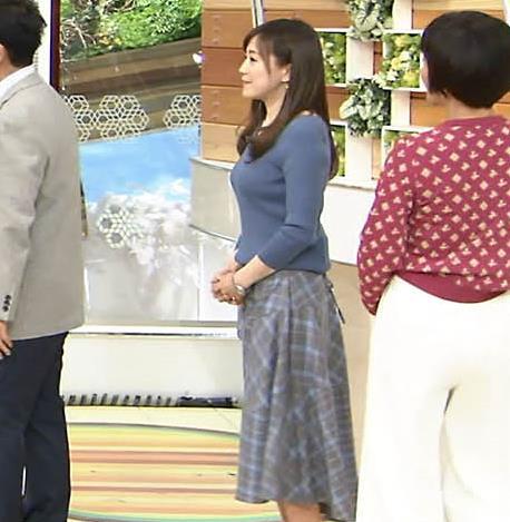 江藤愛アナ エロ過ぎニット横乳!キャプ・エロ画像4