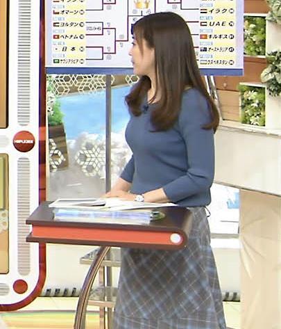 江藤愛アナ エロ過ぎニット横乳!キャプ・エロ画像6