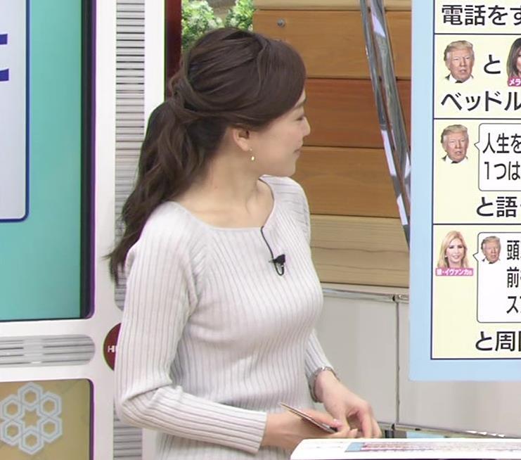 江藤愛アナ ニットおっぱい★クッキリ!キャプ・エロ画像