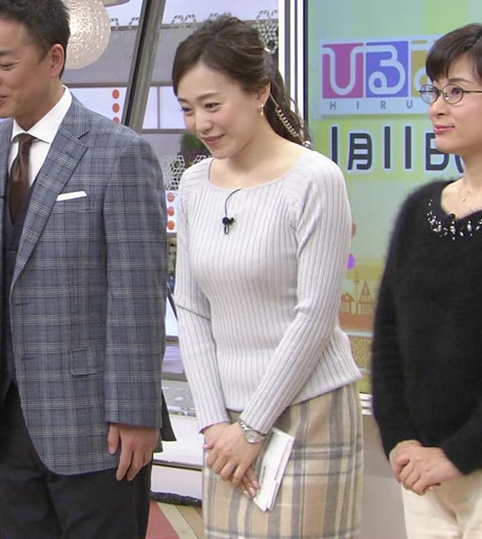 江藤愛アナ ニットおっぱい★クッキリ!キャプ・エロ画像2