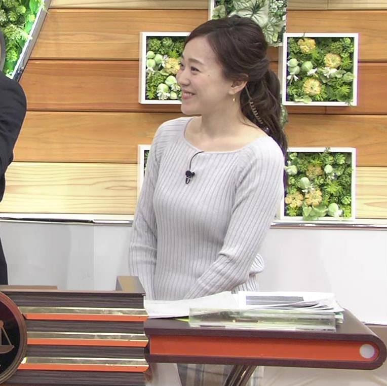 江藤愛アナ ニットおっぱい★クッキリ!キャプ・エロ画像11