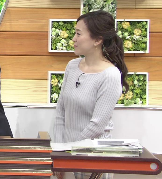 江藤愛アナ ニットおっぱい★クッキリ!キャプ・エロ画像12