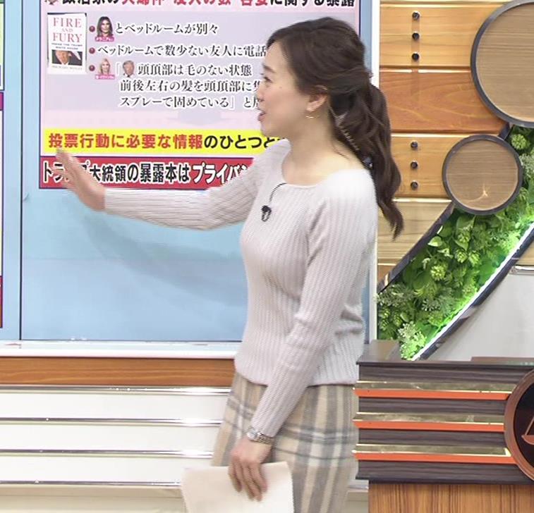 江藤愛アナ ニットおっぱい★クッキリ!キャプ・エロ画像13