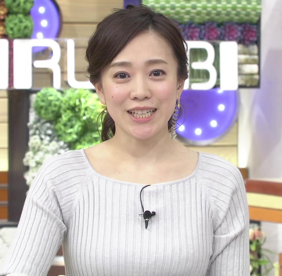 江藤愛アナ ニットおっぱい★クッキリ!キャプ・エロ画像15