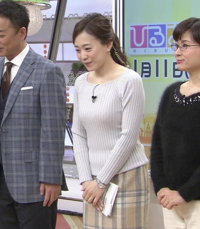 江藤愛アナ ニットおっぱい★クッキリ!キャプ・エロ画像3
