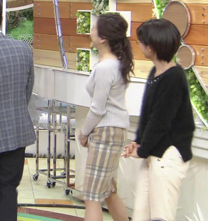 江藤愛アナ ニットおっぱい★クッキリ!キャプ・エロ画像4