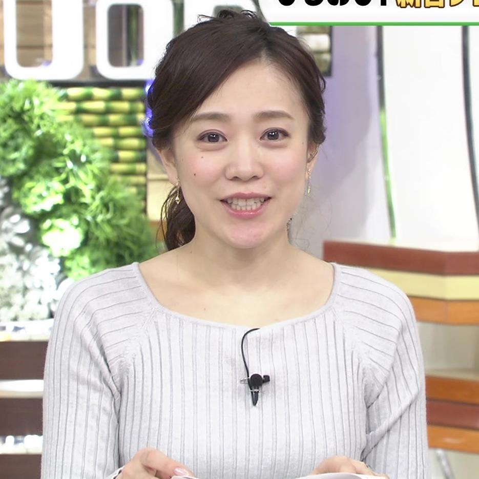 江藤愛アナ ニットおっぱい★クッキリ!キャプ・エロ画像5