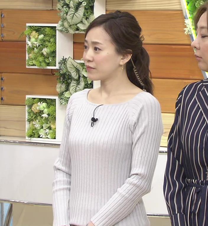 江藤愛アナ ニットおっぱい★クッキリ!キャプ・エロ画像6