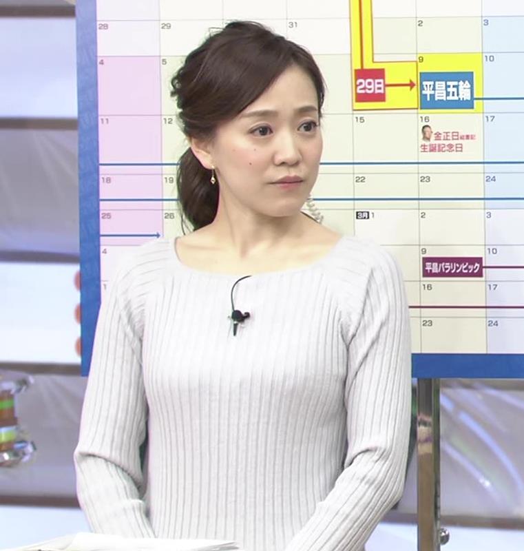 江藤愛アナ ニットおっぱい★クッキリ!キャプ・エロ画像7