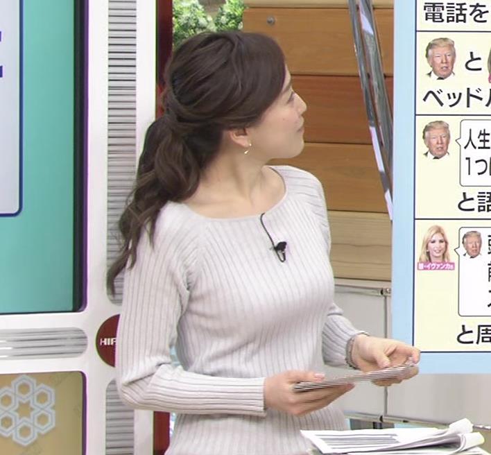江藤愛アナ ニットおっぱい★クッキリ!キャプ・エロ画像8