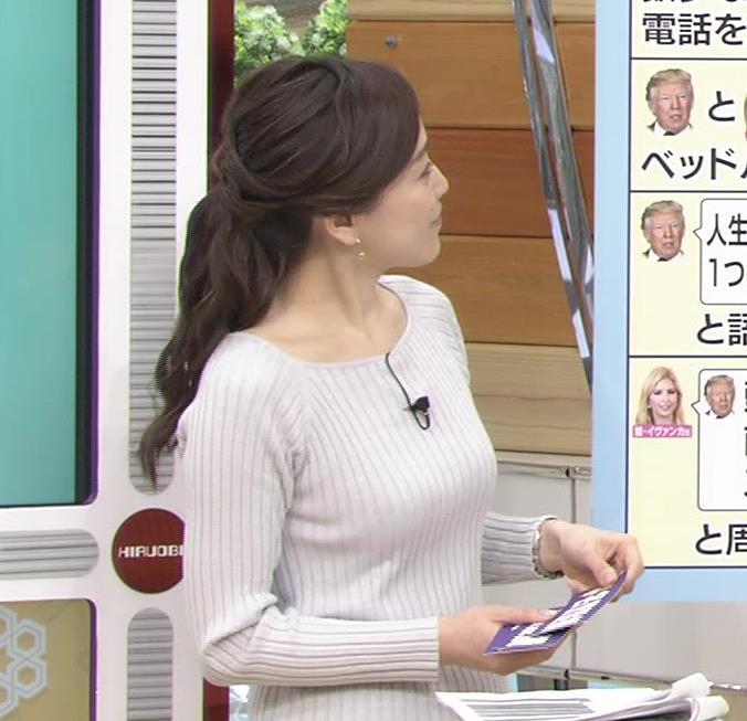 江藤愛アナ ニットおっぱい★クッキリ!キャプ・エロ画像9