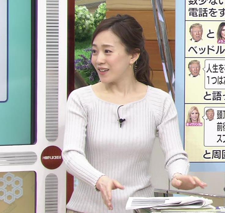 江藤愛アナ ニットおっぱい★クッキリ!キャプ・エロ画像10