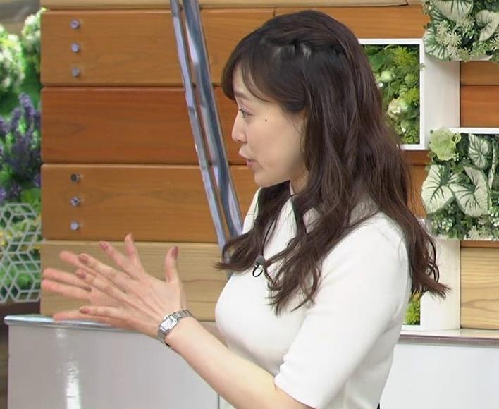 江藤愛アナ 胸がピチピチのニットキャプ・エロ画像5