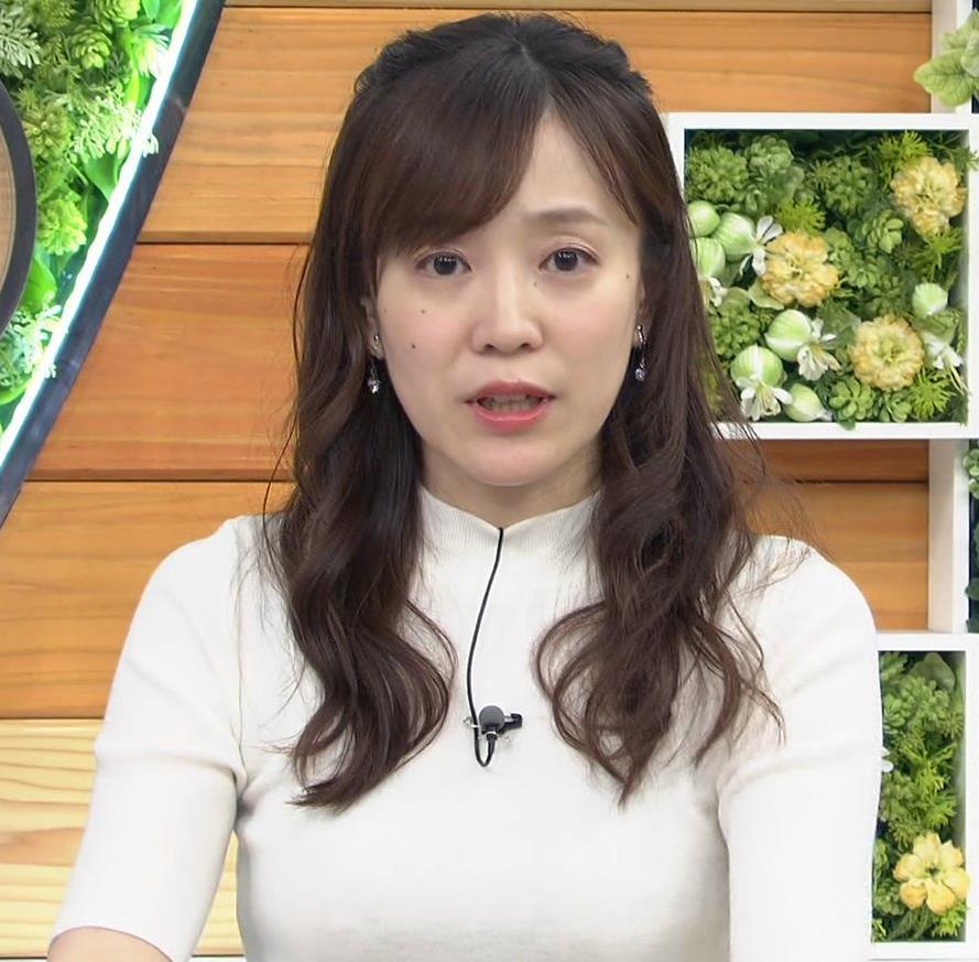 江藤愛アナ 胸がピチピチのニットキャプ・エロ画像7