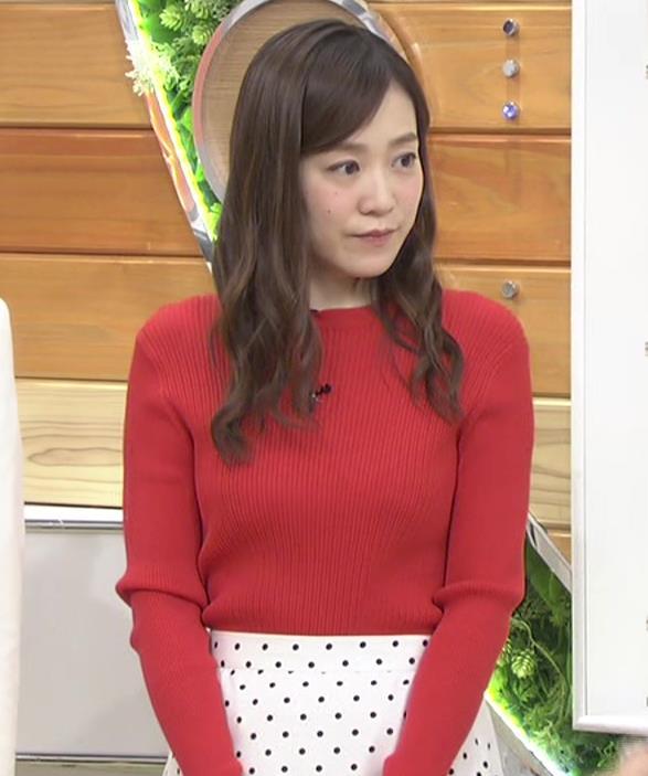 江藤愛アナ 赤いニットのおっぱい★キャプ・エロ画像4