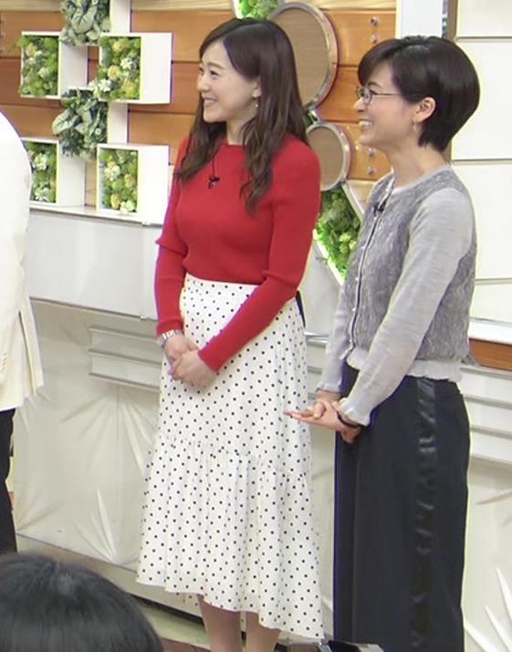 江藤愛アナ 赤いニットのおっぱい★キャプ・エロ画像5