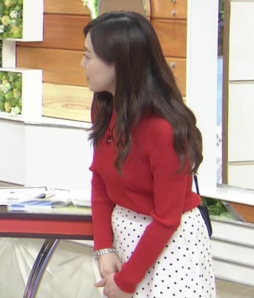江藤愛アナ 赤いニットのおっぱい★キャプ・エロ画像7