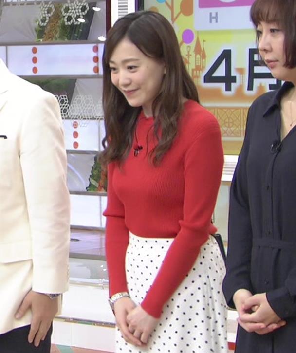 江藤愛アナ 赤いニットのおっぱい★キャプ・エロ画像9