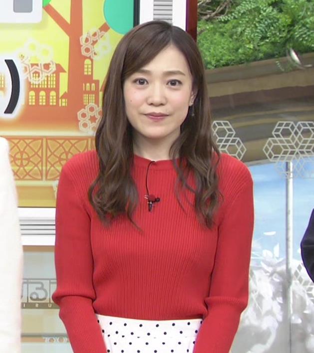 江藤愛アナ 赤いニットのおっぱい★キャプ・エロ画像10