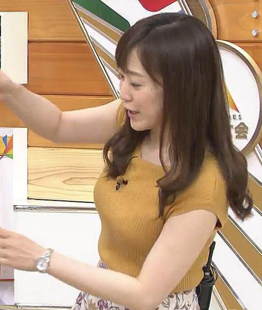 江藤愛 ニット横乳 エロ過ぎ!キャプ画像(エロ・アイコラ画像)