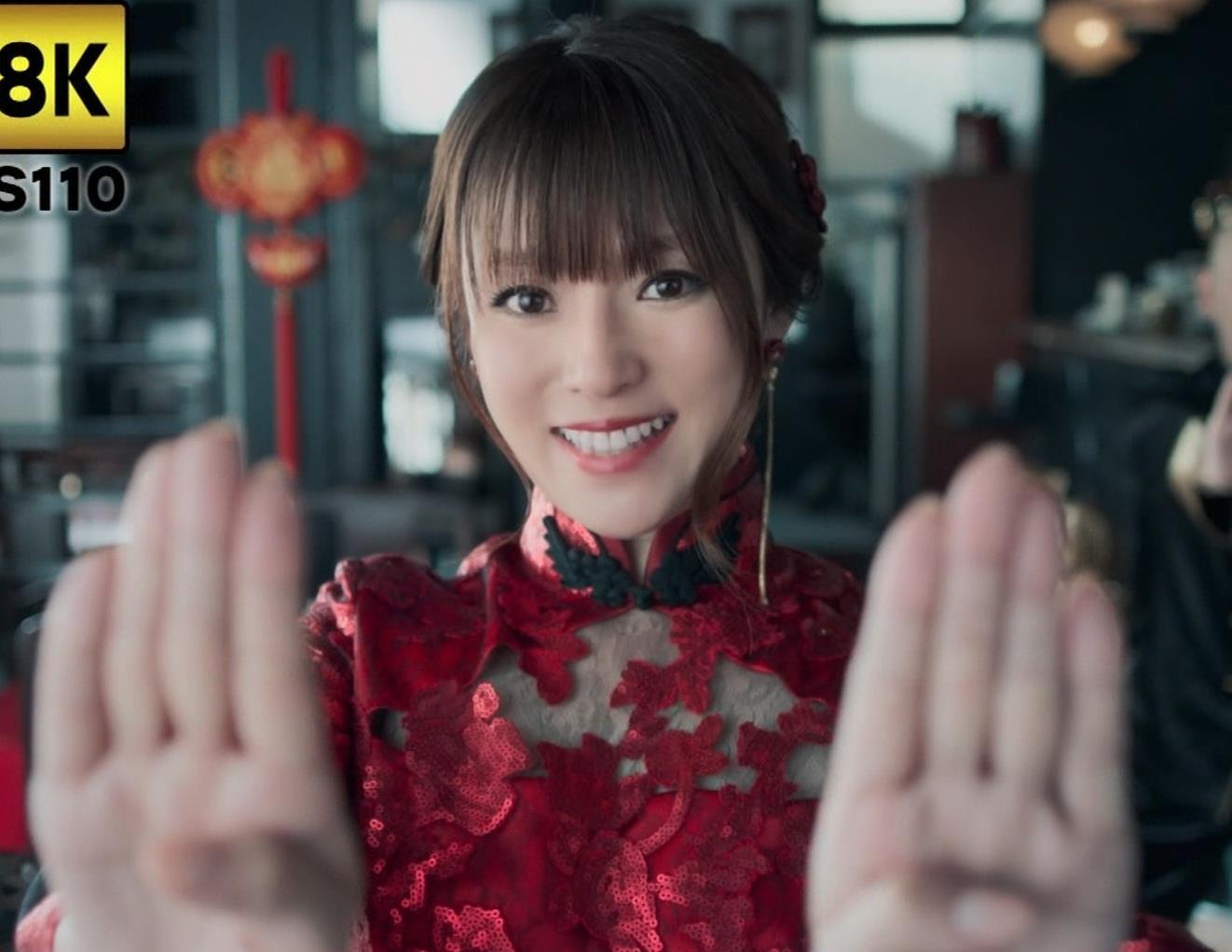 深田恭子 エロ過ぎるチャイナドレス姿のBS4K8KのCMキャプ・エロ画像5